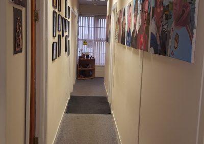 Corridor exhibits